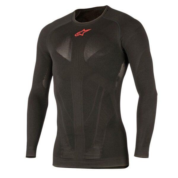 16748-175-0217 13 tech-top-long-sleeve black-red