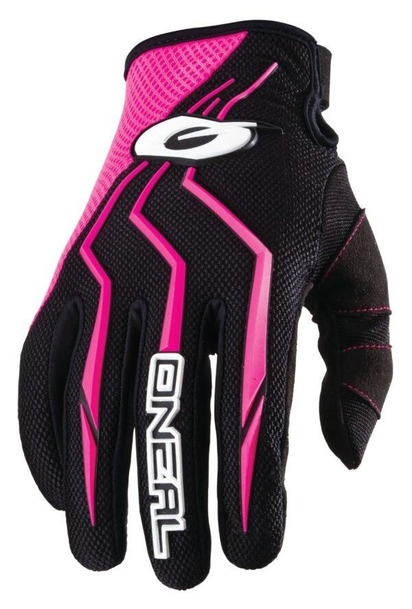 o neal element womens gloves black pink